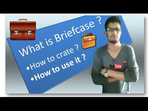 How to create briefcase in your PC ? How to use it ?