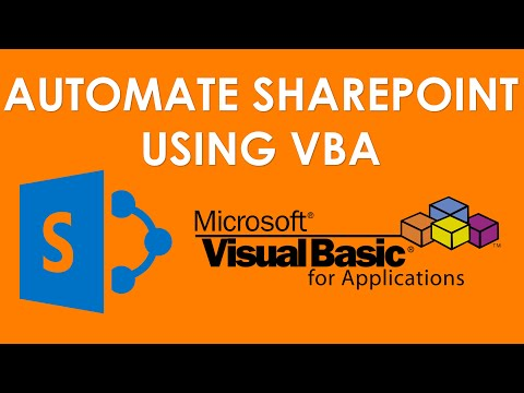 VBA and SharePoint Tutorials