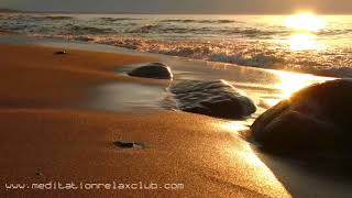 Tibetan New Age Music: Water Sounds of Sea and Flowing River for Serenity