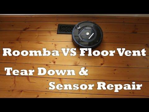 Roomba vs Floor Vent - Sensor Fix