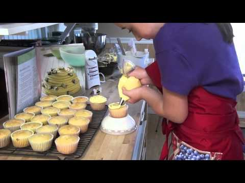 Emily making beehive cupcakes