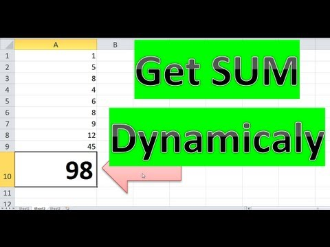 How to SUM Totals At Bottom of a Column Dynamically - Excel VBA Is Fun!