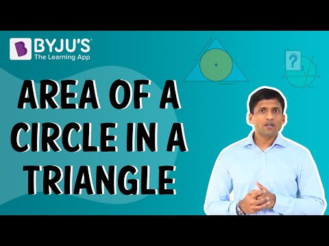 Class 6-10 - Area of a Circle in a Triangle