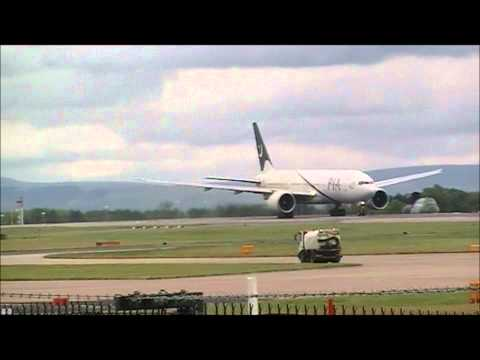 PIA 777 departing Manchester Airport