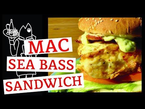 Need a White Sea Bass Recipe?🙂 Tasty Fish Burger😃 Easy To Make Fried Fish Sandwich