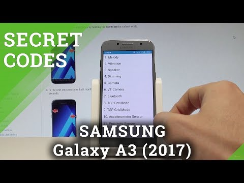 Secret Codes SAMSUNG Galaxy A3 (2017) - Hidden Mode / Tricks / Advanced Features  HardReset.Info