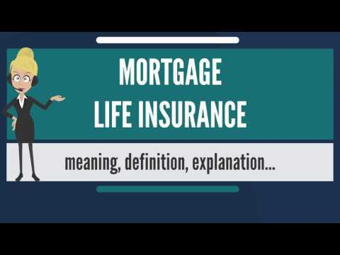 What is MORTGAGE LIFE INSURANCE? What does MORTGAGE LIFE INSURANCE mean?