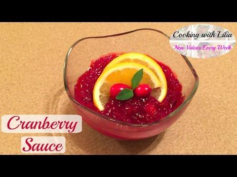 Cranberry Sauce Recipe - Orange Cranberry Sauce - Homemade Cranberry Sauce