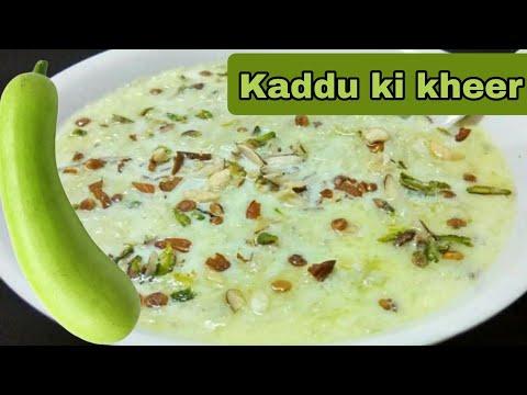 Hyderabadi Kaddu Ki Kheer Recipe in HINDI