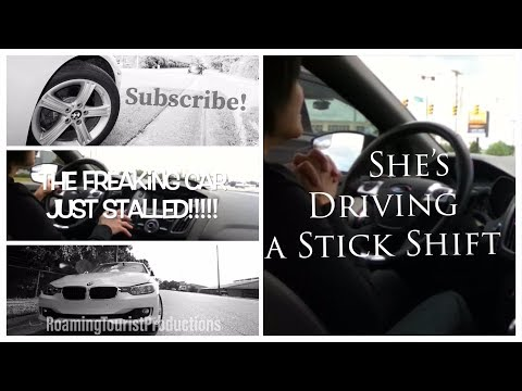 Girl Driving a Stick Shift  to Washington DC