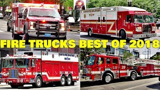 Fire Trucks and Engines Responding Compilation BEST OF 2018 - Q Sirens + Air Horns