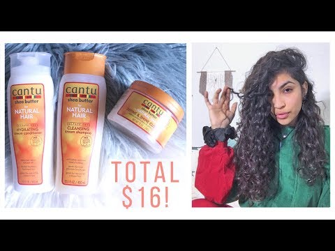 Cantu Review // $16 Curly Hair Routine