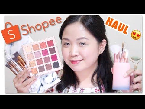 SHOPEE MAKE-UP HAUL♡ (100+ PHP lang na brushes at bonggang eyeshadow palette!) ♡