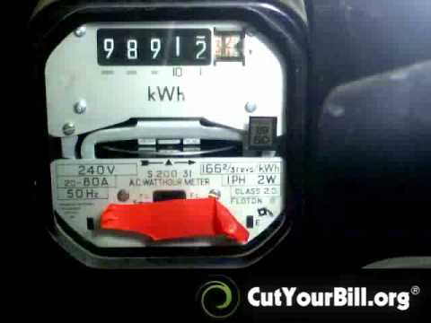 Electric Meter Trick! How To Cut Your Electricity Bill