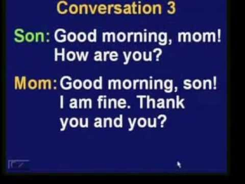 Learn English and Cambodian: Conversation 1 Part 1 ( Hello and Good Morning)