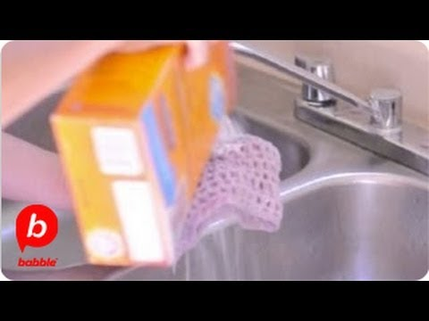 Cleaning A Sink With Baking Soda and Vinegar | How To | Babble