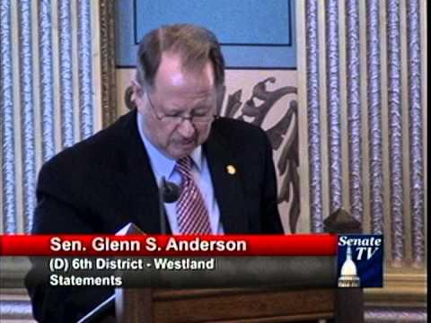 Sen. Anderson Urges Congress for Unemployment Benefits