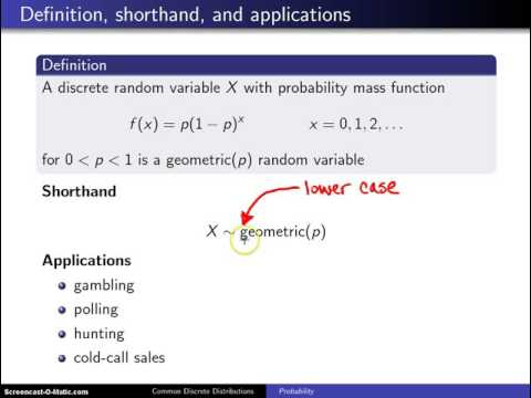 Geometric distribution definition