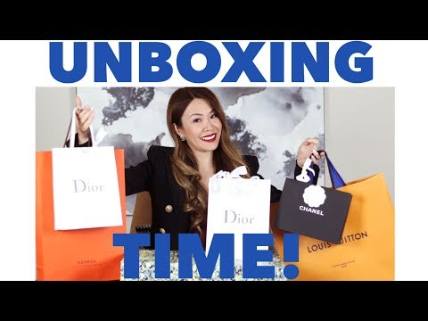UNBOX WITH ME!   LUXURY HAUL ft LOUIS VUITTON, CHANEL, DIOR & HERMES