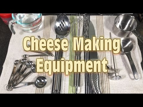 Simple Cheese Making Equipment from Around the Home