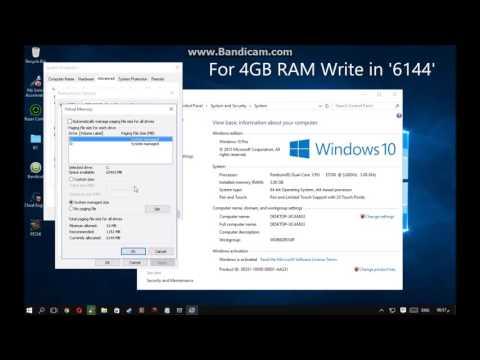 Tutorial  Menambah Memory Virtual Ram Di Windows 10  !!!!
