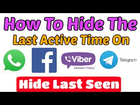 How To Hide Last Seen In Facebook,Whatsapp,Imo,Viber,Telegram,Wechat | Disable Last Active