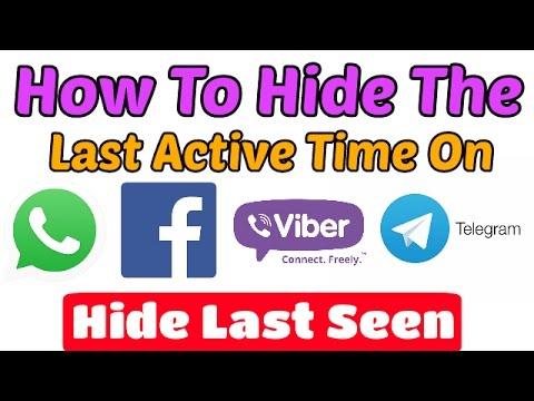 How To Hide Last Seen In Facebook,Whatsapp,Imo,Viber,Telegram,Wechat | Disable Last Active