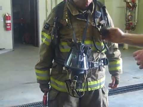 Putting on the Firefighter Suit