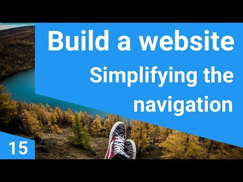Build a responsive website tutorial 15  - Simplifying the navigation with includes