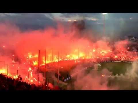 PAOK - Olympiacos 1-0 (Greek Cup semi-final, teams entrance) Toumba Stadium