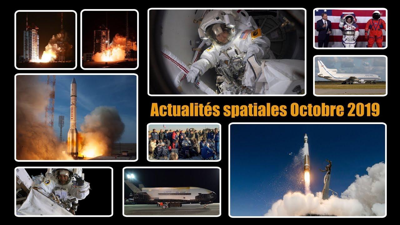 Actualités spatiales d'octobre : ISS, Long March, Proton, Electron, Pegasus, ... et des annonces