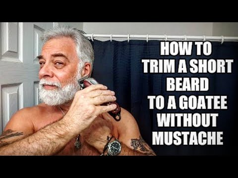 How to trim a beard to goatee without a mustache