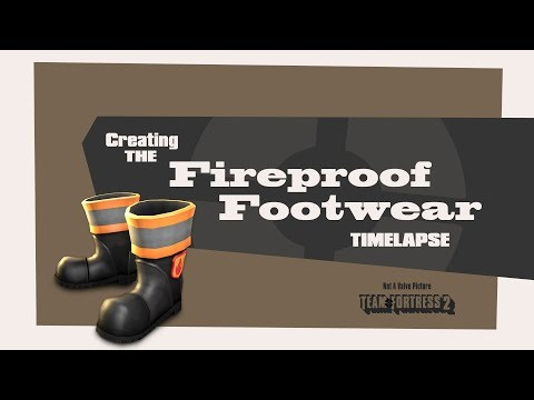 Creating the Fireproof Footwear for Team Fortress 2 (Timelapse)