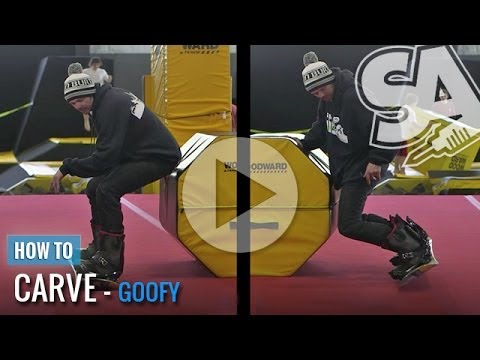 How To Carve On A Snowboard (Goofy)