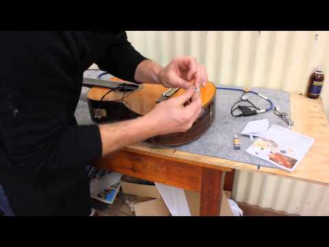 D.I.Y. install peterman pickup in acoustic guitar, flamenco, western and classical