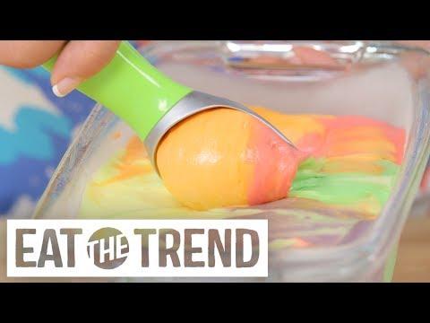 No-Churn Skittles Ice Cream | Eat the Trend