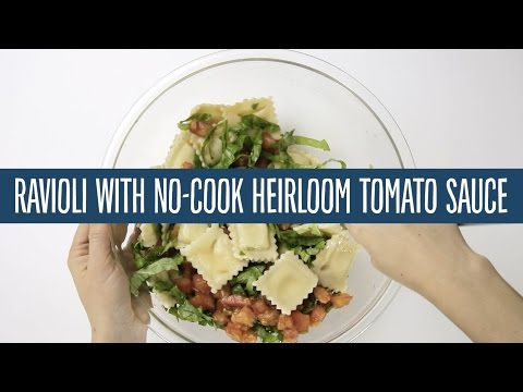 Ravioli with No-Cook Heirloom Tomato Sauce | Recipes | 365 by Whole Foods Market