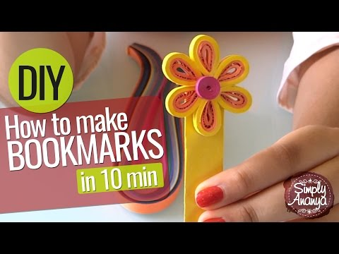 How to make Bookmarks in 10 min - DIY art & craft ideas for kids - Kids learning Videos