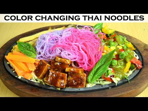 How to make Thai noodles change color | Thai sizzler with color changing noodles| Yummylicious