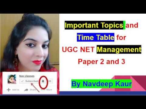 CBSE UGC NET Management study plan time table   June 2018