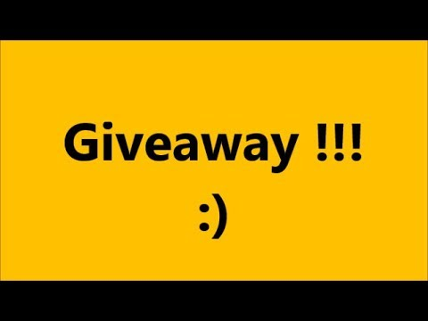 Giveaway  ! ! !