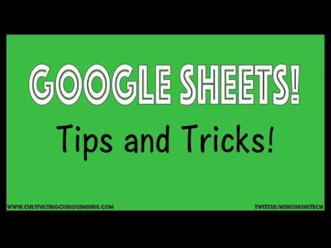 Google Sheets Tips and Tricks!