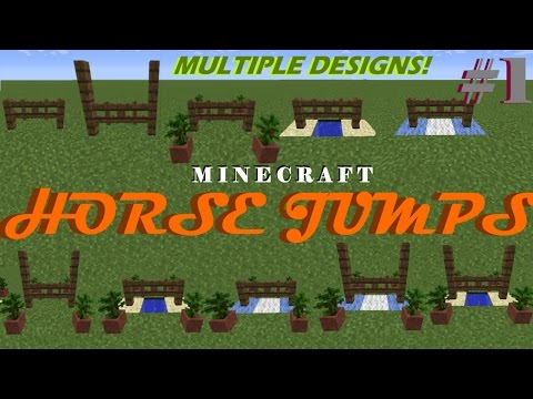 Minecraft | Horse Jumps | BUILDING VIDEO | Horse Series #1