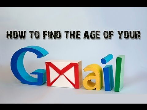 How to find the age of a gmail id? (Account creation date)