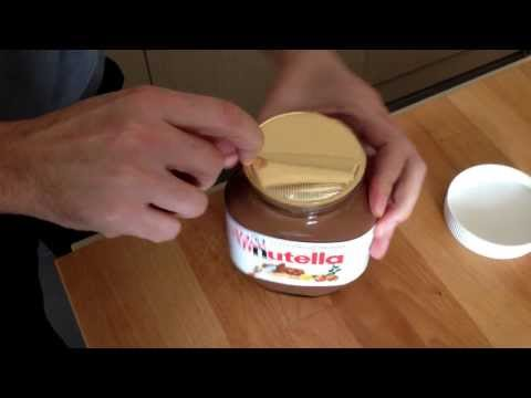 How to open a Nutella jar