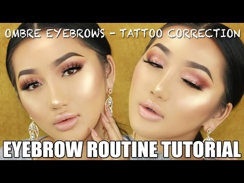 OMBRE EYEBROW TUTORIAL || TATTOO CORRECTION.