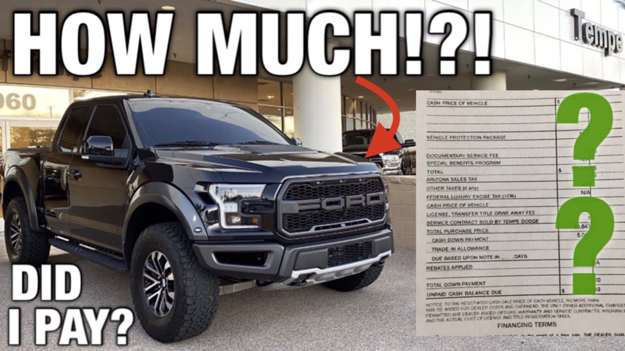 HOW MUCH DID I PAY For A USED 2019 Ford F-150 Raptor Monthly Payments & Insurance Cost - TRX Update