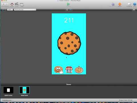 Free Cookie Clickers gamesalad template