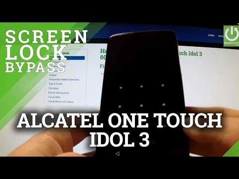 Hard Reset ALCATEL One Touch Idol 3 6045Y - bypass lock screen pattern