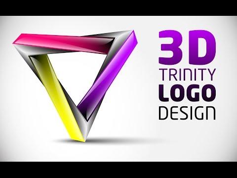 How to create 3D Logo Design in Adobe Illustrator CS5 | HD | TRI